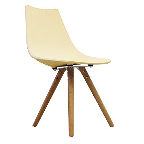 Scandi Retro Stil Designer Kunststoff Stuhl Mit Beine Aus