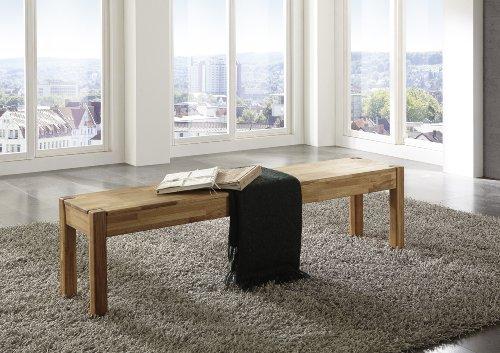 SAM® Wildeiche Esszimmer Sitzbank, 184 x 35 cm, Eiche geölt