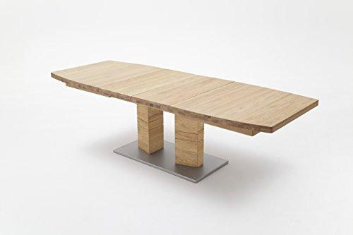 robas lund tisch esstisch massivholztisch cuneo b bootsform wildeiche 140 x 90 x 77 cm. Black Bedroom Furniture Sets. Home Design Ideas