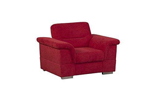 cavadore 5232 sessel schaumstoff rot 117 x 93 x 87 cm skandinavische m bel. Black Bedroom Furniture Sets. Home Design Ideas