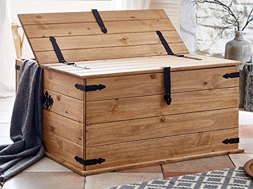 sam doppel truhe aus kiefernholz mexico m bel couchtisch mit 2 klappen gewachst schwarze. Black Bedroom Furniture Sets. Home Design Ideas
