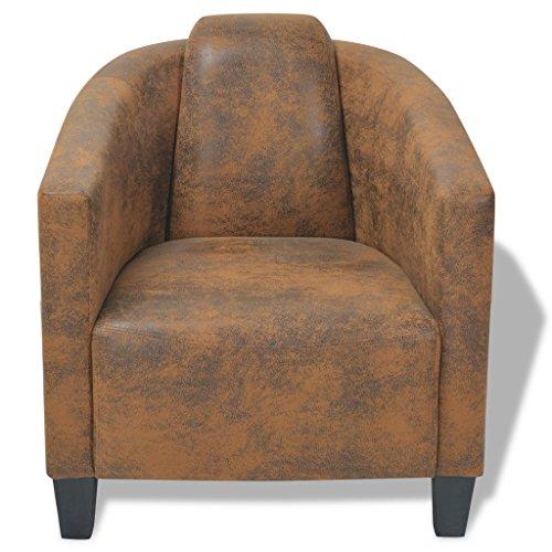 Vidaxl armsessel relaxsessel armsofa einzelsofa lounge for Sessel braun stoff