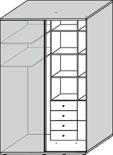 wellem bel teenio begehbarer eck kleiderschrank wildeiche. Black Bedroom Furniture Sets. Home Design Ideas