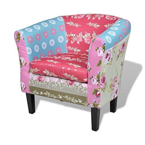 vidaxl patchwork relaxsessel polstersessel sessel bunt. Black Bedroom Furniture Sets. Home Design Ideas