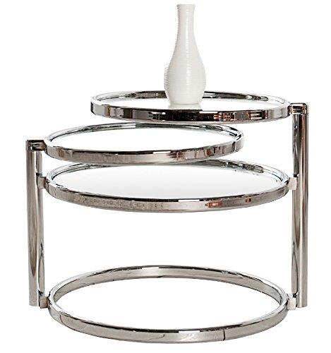 dunord design beistelltisch couchtisch plate 3 art deco design glas chrom retro skandinavische. Black Bedroom Furniture Sets. Home Design Ideas