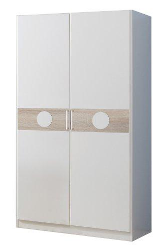 wimex 310180 kleiderschrank 90 x 175 x 58 cm alpinwei absetzung eiche s gerau nachbildung. Black Bedroom Furniture Sets. Home Design Ideas
