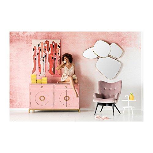 Sessel vicky velours rosa kare design 1 skandinavische m bel for Sessel vicky