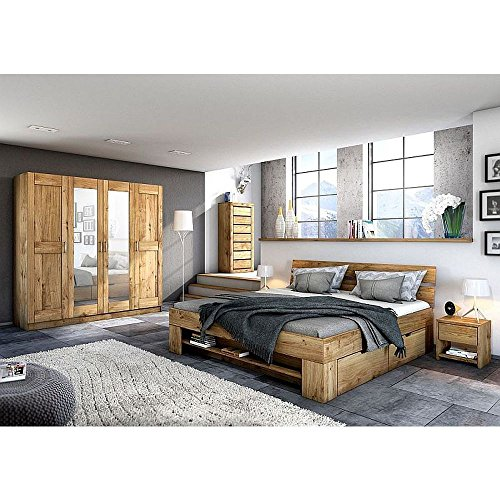 kleiderschrank tomi 3 t rig wildeiche teil massiv ge lt skandinavische m bel. Black Bedroom Furniture Sets. Home Design Ideas