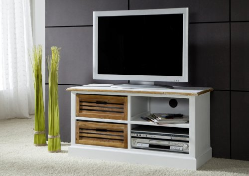 sam tv board i wei lackiertes paulowniaholz paris fernsehschrank massiv exklusiv holz. Black Bedroom Furniture Sets. Home Design Ideas