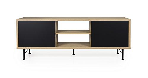 tenzo flow tv bank holz schwarz eiche 164 x 44 x 60. Black Bedroom Furniture Sets. Home Design Ideas