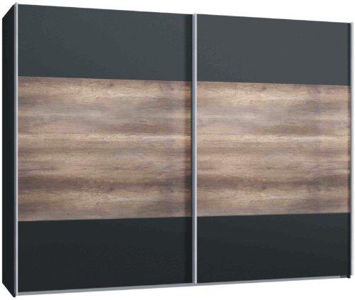 schwebet renschrank kleiderschrank ca 300 cm anthrazit. Black Bedroom Furniture Sets. Home Design Ideas