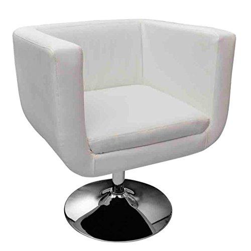 Vidaxl lounge sessel wei drehstuhl cocktailsessel skandinavische m bel - Scandinavische cockail ...