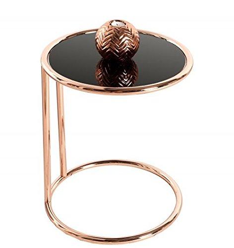 beistelltisch art deco chrom glas kupfer schwarz skandinavische m bel. Black Bedroom Furniture Sets. Home Design Ideas