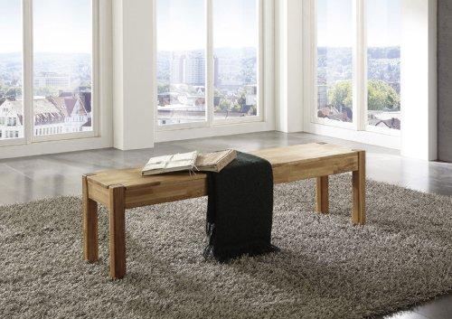 SAM® Wildeiche Esszimmer Sitzbank, 164 x 35 cm, Eiche geölt