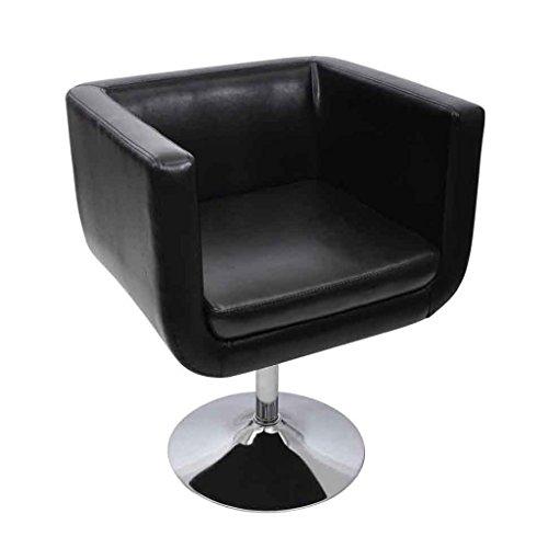 vidaxl lounge sessel schwarz drehstuhl cocktailsessel skandinavische m bel. Black Bedroom Furniture Sets. Home Design Ideas