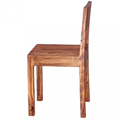 finebuy esszimmerst hle 2er set massiv holz sheesham design k chen st hle 40x40cm holzst hle. Black Bedroom Furniture Sets. Home Design Ideas