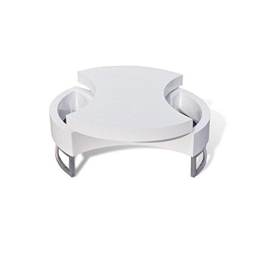 vidaxl couchtisch kaffeetisch formverstellbar hochglanz design wei skandinavische m bel. Black Bedroom Furniture Sets. Home Design Ideas