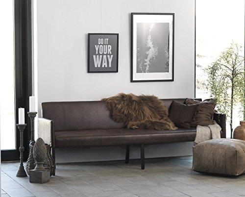 Canett Sofabank Annabella 240 cm Vintage dunkelbraun B240xT67xH85 cm