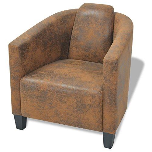 vidaxl armsessel relaxsessel armsofa einzelsofa lounge sessel stuhl braun stoff skandinavische. Black Bedroom Furniture Sets. Home Design Ideas