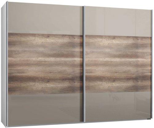 schwebet renschrank schiebet renschrank 2trg ca 300 cm glas sahara grau doppelbinde in. Black Bedroom Furniture Sets. Home Design Ideas