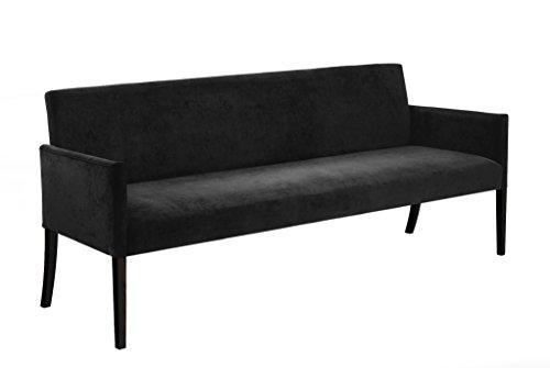 Canett Sofabank Annabella 180 cm schwarz B180xT67xH85 cm
