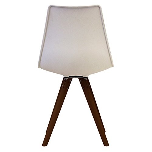 Scandi retro stil designer kunststoff stuhl mit walnuss for Scandi stuhl