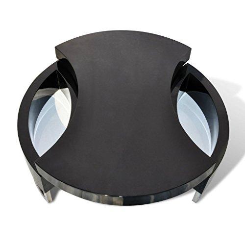 vidaxl couchtisch kaffeetisch beistelltisch formverstellbar hochglanz schwarz 240425. Black Bedroom Furniture Sets. Home Design Ideas