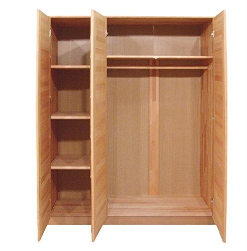 kleiderschrank wildeiche teilmassiv ge lt 3 t rig homeforyou24 skandinavische m bel. Black Bedroom Furniture Sets. Home Design Ideas