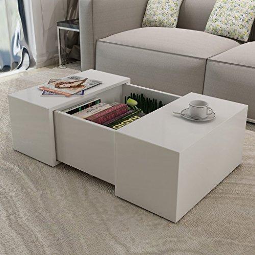 vidaxl kaffeetisch couchtisch wohnzimmertisch beistelltisch tisch hochglanz wei. Black Bedroom Furniture Sets. Home Design Ideas