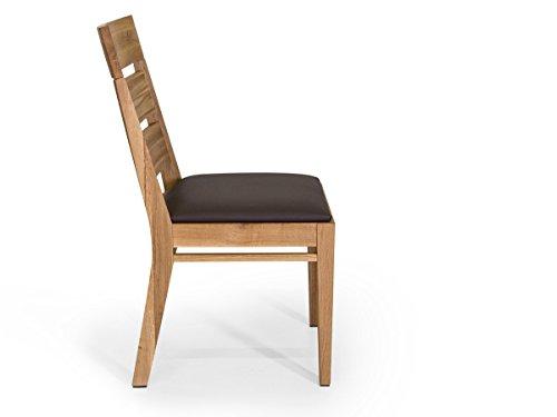 sense esstischstuhl holzstuhl esszimmerstuhl polsterstuhl stuhl wildeiche ge lt wildeiche. Black Bedroom Furniture Sets. Home Design Ideas