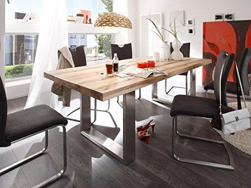 esszimmertisch holztisch esstisch k chentisch tisch massiv k che castello i wildeiche. Black Bedroom Furniture Sets. Home Design Ideas