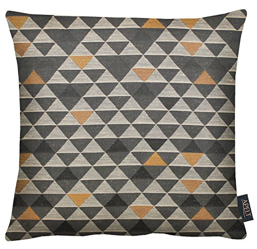 APELT Mix 49x49 87 Kissenhülle, Polyester, taupe / kupfer, 49 x 49 cm