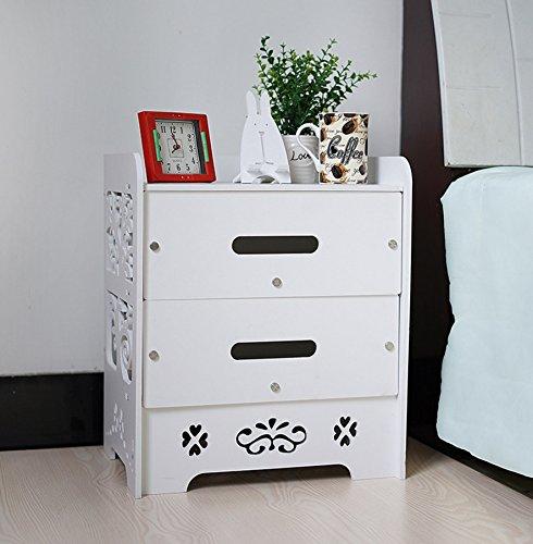 bayli nachttisch mit 2 schubladen farbe wei landhaus nachtkommode nachtkonsole beistelltisch. Black Bedroom Furniture Sets. Home Design Ideas