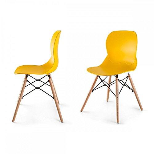 Boras 2 st ck st hle nordischen skandinavischer stil gelb - Stuhle skandinavischer stil ...