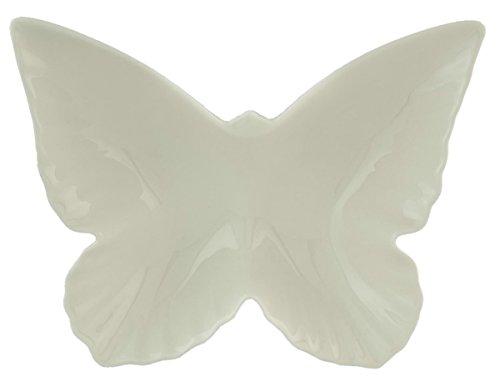 Clayre & Eef GBSK Schale Schüssel Schmetterlingsform weiß ca. 22 x 17 x 5 cm