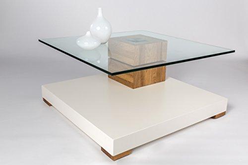 couchtisch wohnzimmertisch tisch sofatisch tischplatte drehbar wei wildeiche massiv. Black Bedroom Furniture Sets. Home Design Ideas