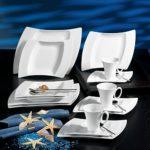 Creatable 13457 Serie Wing, Kombiservice, Porzellan, weiß, 41.5 x 35.5 x 32 cm, 30 Einheiten