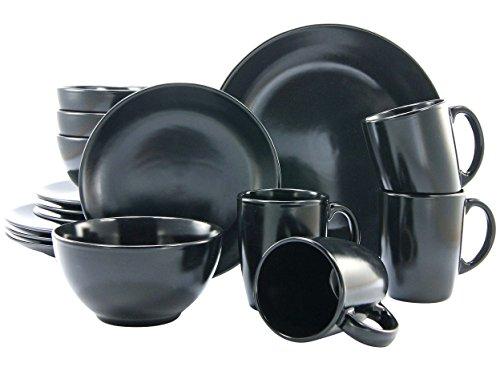 Creatable 17544 Serie Black and White Kombiservice 16 teilig Schwarz-matt, Stein, Schwarz, 41 x 33 x 31 cm, 16 Einheiten
