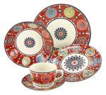 Creatable 19718 Serie Sumaya Pink, Kombiservice, Porzellan, mehrfarbig, 40 x 32,5 x 32,5 cm, 30 Einheiten