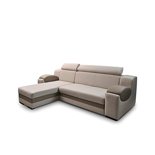 eckcouch madryt ecksofa mit einstellbare kopfst tze funktionssofa polsterecke mit bettkasten. Black Bedroom Furniture Sets. Home Design Ideas