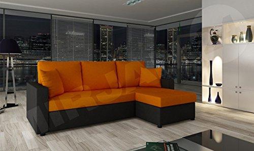ecksofa mit schlaffunktion und bettkasten picanto ma e 224x144 cm schlaffl che 200x130 cm. Black Bedroom Furniture Sets. Home Design Ideas