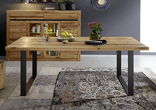 esstisch wildeiche 160x90x76 natur ge lt montreux 113 skandinavische m bel. Black Bedroom Furniture Sets. Home Design Ideas