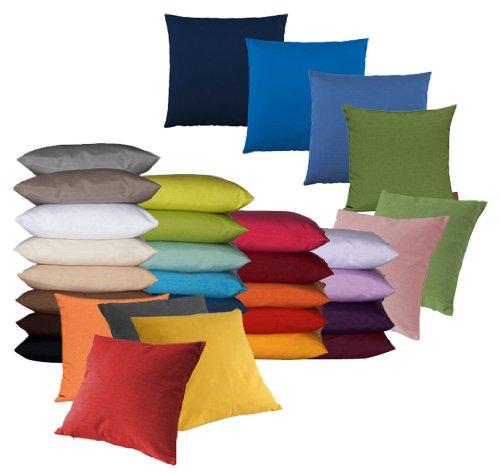 Fino Kissenhülle ca. 40 x 40 cm hochwertig & knitterarm in 30 bunten Farben (2er Set)