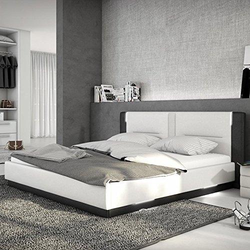 innocent polsterbett aus kunstleder wei schwarz 180x200cm. Black Bedroom Furniture Sets. Home Design Ideas