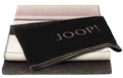 JOOP! Wohndecke Purity | Ebony-Pergament - 150 x 200 cm