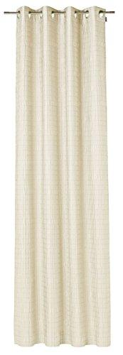 JOOP! Ösenvorhang - Wrinkle - natur - 125 x 245 cm