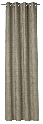 JOOP! Ösenvorhang - Wrinkle - stein - 125 x 245 cm