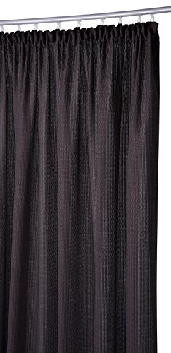 Joop! 808051 Victoria Schal mit Band, Stoff, braun / schwarz, 245 x 140 x 1 cm