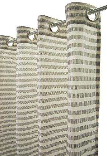 Joop! ös500955 Liverpool Ösenschal, Stoff, weiß / grau, 245 x 145 x 1 cm