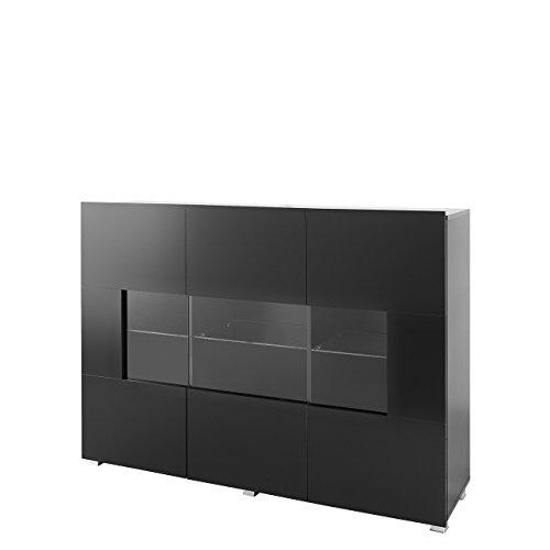kommode gordia g k3d mit 3 tren anrichte sideboard 150x107x35 cm mehrzweckschrank highboard. Black Bedroom Furniture Sets. Home Design Ideas